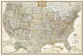 map of us states poster united states executive poster size and tubed