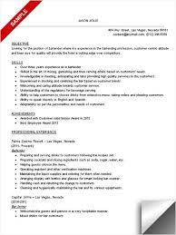 Resume Template For Server Position Bartender Resume Exles Haadyaooverbayresort Com