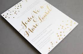 gold foil wedding invitations wedding invitations metallic foil sting gold white 1