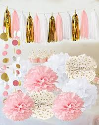 baby shower centerpieces for a girl qian s party baby pink gold white baby shower
