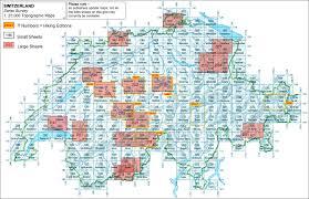 Switzerland World Map by Switzerland Swiss Survey 25k Topographic Maps Stanfords