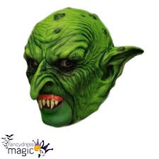 bandit mask halloween puck the green goblin ogre halloween horror chinless chin strap