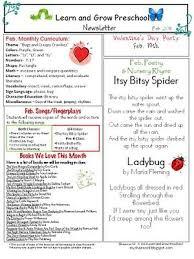 16 best preschool newsletter images on pinterest