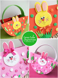 Easter Decorations Ks1 by No Sew Express Baskets For Your Easter Egg Hunt With Free