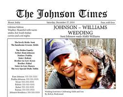 newspaper wedding program etsy