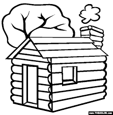 lincoln coloring pages lincoln u0027s log cabin online coloring page