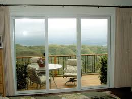 three pane sliding glass door home interior design