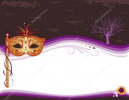 halloween masquerade invitation with golden mask u2014 stock vector