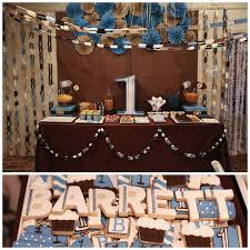 brown birthday party kara s party ideas blue brown boys birthday party planning ideas