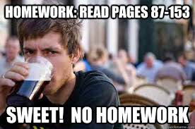 Homework Meme - sweet no homework meme