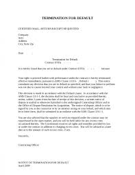 cover letter agreement termination letter agreement termination