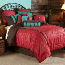 ws4001 cheyenne red comforter set western bedding
