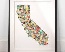 state map of california california map california print california