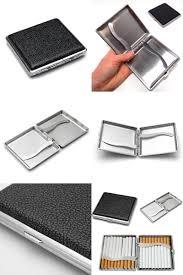 visit to buy 1pc cigarette cigar pocket box case leather metal