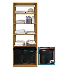 isa custom closet shelves with hamper pullout contempo space