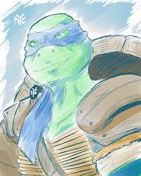 teenage mutant ninja turtles leonard 2014 sketch by ishida1694