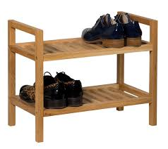 Small Shoe Bench by Small And Narrow 2 Tier Modern Shoe Rack Waverly Oak Hallowood