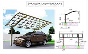 Car Port For Sale Driveway Canopy Waved Roof Single Carport Sunshield