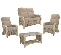 Rattan Two Seater Sofa Buy Desser Milan 2 Seater Rattan Conservatory Set At Argos Co Uk