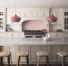 silestone ocean jasper beautiful kitchen pendants house a nod to pink kitchens