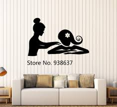 aliexpress com buy vinyl wall decal spa massage therapy relax
