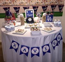baseball party supplies los angeles dodgers birthday party ideas birthday party tables