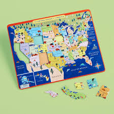 United States Map Mountains by From The Mountains To The Prairies Puzzle The Land Of Nod