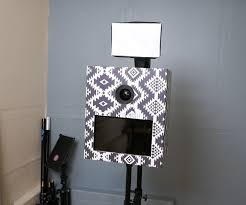 photo booth diy photo booth with 10 cardboard shell and wifi printing and