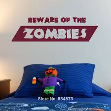 compare prices on zombie wall art online shopping buy low price zombies beware boys quote wall art stickers wall art home diy decoration wall decal removable room
