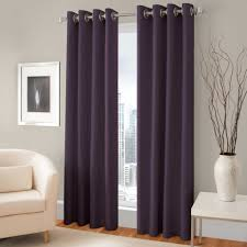 curtain espresso wooden rods singular pretty purple room darkening