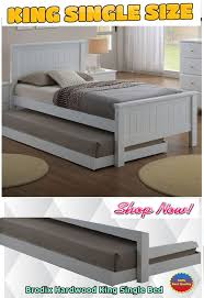 Mdf Bed Frame Brodix Hardwood King Single Bed Frame White King Single Bed