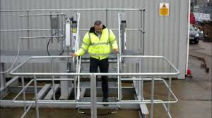 safe tanker access folding stairs with air power for road and