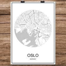 Wohnzimmer Cafe Bar Oslo Norwegen Abstrakte World City Street Karte Drucken Poster
