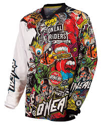 black motocross gear amazon com o u0027neal mayhem crank men u0027s jersey black multi x large