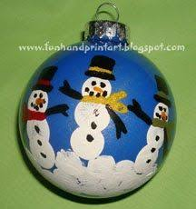 parent gifts for ornament grandkids and snowman