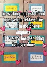 i u0027m writing my best friend open when letters for when i u0027m not