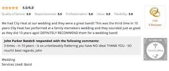 wedding band reviews city heat band reviews from pittsburgh weddings we ve