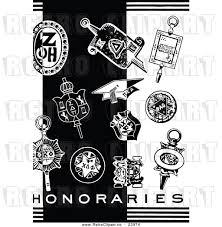 graduation items vector clip of a retro graduation items beside honararies
