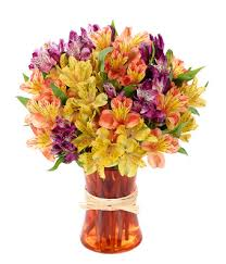 Lily Bouquet Peruvian Lily Rainbow At From You Flowers