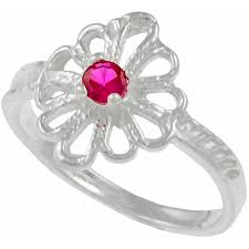 childrens rings children s sterling silver heart cz ring size 9 children s