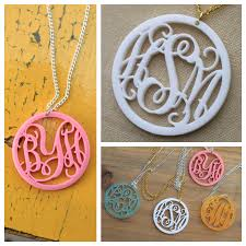 monogram pendants personalized acrylic monogram pendants 70 the plaid barn