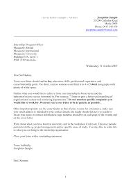 short cover letter examples for resume sample internship cover