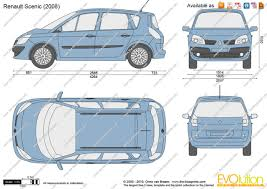 renault scenic 2005 the blueprints com vector drawing renault scenic
