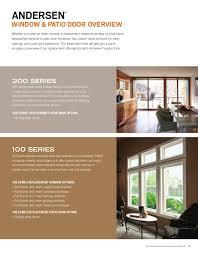 Andersen 400 Series Patio Door Price Andersen Brochure 400 200 100 Series Window Door Replacement 9046527