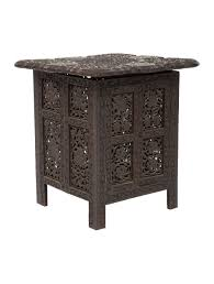 carved wood end table carved wood end table furniture table20600 the realreal