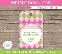 golf birthday party favor tags thank you tags