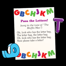 sing the song while passing the letter bag when the song stops