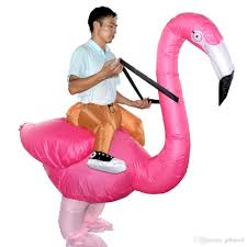 wholesale flamingo inflatable costume reider cosplay halloween