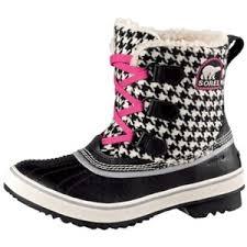womens boots journeys womens sorel tivoli duck boot black white houndstooth at j