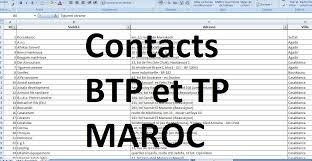 Bureau D Ude Batiment Casablanca Base De Données Contacts Btp Et Travaux Publics Au Maroc Outils